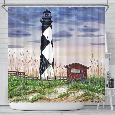 Patrick Sullivan Signature Line - Lighthouse - Shower Curtain - FREE SHIPPING