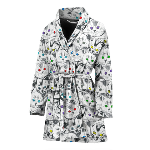 Cats Galore Women's Bathrobe - FREE SHIPPING