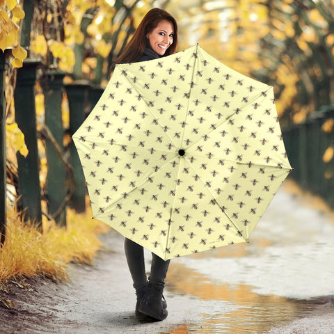 Honey Bees Design #1 (Light Yellow) Umbrella - FREE SHIPPING