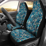 Nautical Design Car Seat Covers (Turquoise) - FREE SHIPPING