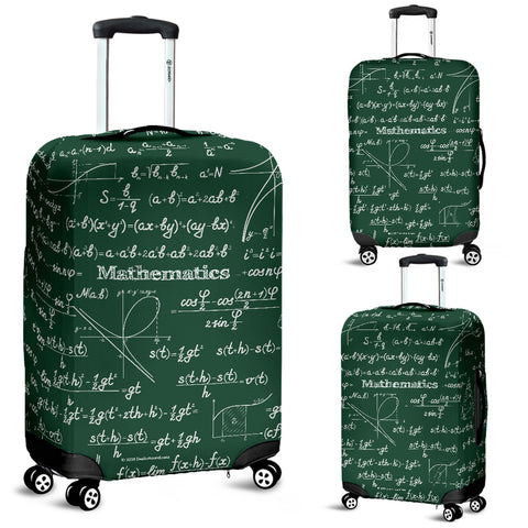 Mathematica Luggage Cover Design #2 Green Chalkboard - FREE SHIPPING