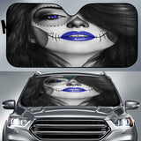 Calavera Fresh Look Design #4 Auto Sun Shade (Blue) - FREE SHIPPING