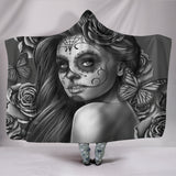 Calavera Fresh Look Design #2 Hooded Blanket (Vintage Retro) - FREE SHIPPING