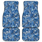 Nautical Design Car Floor Mats (Sky Blue, Front & Back) - FREE SHIPPING