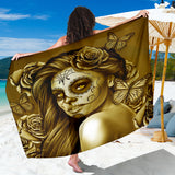 Calavera Fresh Look Design #2 Sarong (Hazel Sparkle & Shine Rose) - FREE SHIPPING