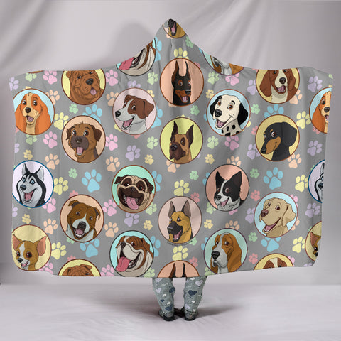 Dogs Galore Hooded Blanket - FREE SHIPPING
