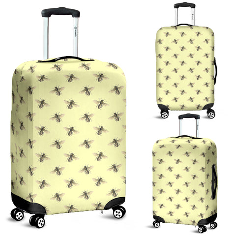 Honey Bees Design #1 (Light Yelllow) Luggage Cover - FREE SHIPPING