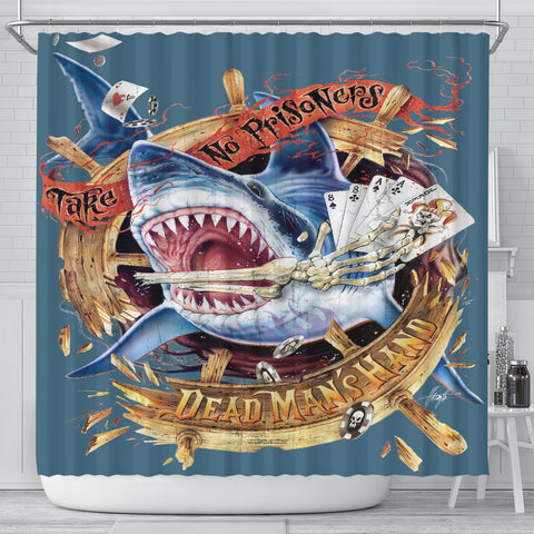 Jim Mazzotta Signature Line - Dead Man's Hand - Shower Curtain - FREE SHIPPING