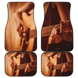 Guitar Player Design #1 Car Floor Mats - FREE SHIPPING