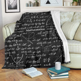 Mathematica Chalkboard Design #2 Throw Blanket (Black) - FREE SHIPPING