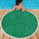 Nautical Design Beach Blanket (Dark Green) - FREE SHIPPING