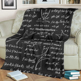 Mathematica Chalkboard Design #1 Throw Blanket (Black) - FREE SHIPPING