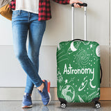 Astronomy Chalkboard Luggage Cover Green - FREE SHIPPING