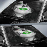 Calavera Fresh Look Design #4 Auto Sun Shade (Green) - FREE SHIPPING