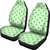 Honey Bees Design #1 Car Seat Covers (Light Green)  - FREE SHIPPING