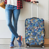 Nautical Design Luggage Cover (Ocean Blue) - FREE SHIPPING
