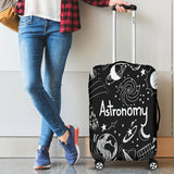 Astronomy Chalkboard Luggage Cover Black - FREE SHIPPING