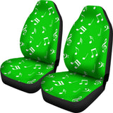 Musical Notes Design #1 (Green) Car Seat Covers - FREE SHIPPING