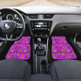 I Love Dogs Car Floor Mats (FPD Lilac, Front & Back) - FREE SHIPPING
