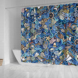 Nautical Design Shower Curtain (Ocean Blue) - FREE SHIPPING