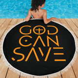 God Can Save Beach Blanket (Black) - FREE SHIPPING