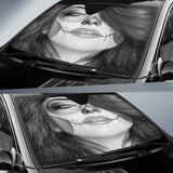 Calavera Fresh Look Design #4 Auto Sun Shade (Vintage Retro) - FREE SHIPPING