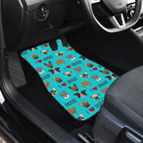 I Love Dogs Car Floor Mats (FPD Cyan, Front & Back) - FREE SHIPPING