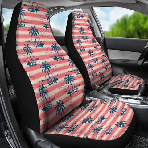 Island Surfer Car Seat Covers (Red)  - FREE SHIPPING