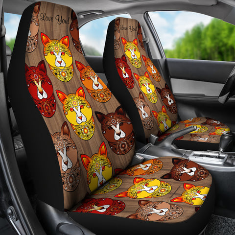 Fancy Pants Cat Car Seat Covers (Brown)  - FREE SHIPPING
