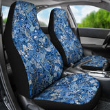 Nautical Design Car Seat Covers (Sky Blue) - FREE SHIPPING