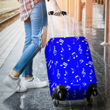 Musical Notes Design #1 (Blue) Luggage Cover - FREE SHIPPING