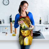 Calavera Fresh Look Design #2 Women's Apron (Yellow Smiley Face Rose) - FREE SHIPPING