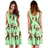 It's Charleston Time Party Midi Dress (Green) - FREE SHIPPING
