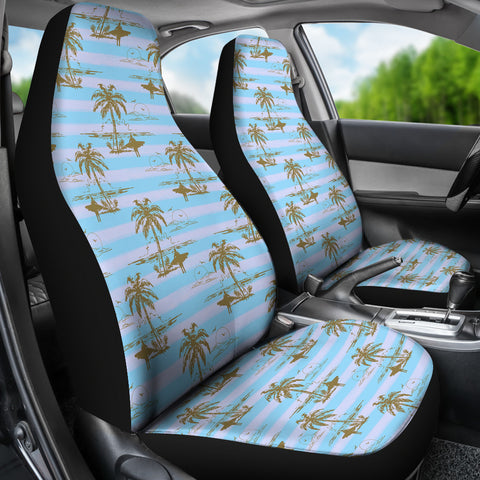 Island Surfer Car Seat Covers (Blue)  - FREE SHIPPING