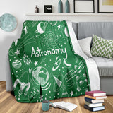 Astronomy Chalkboard Throw Blanket (Green) - FREE SHIPPING