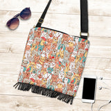 Crazy Pets Collection Cross-Body Boho Handbag - FREE SHIPPING