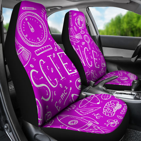 Science Chalkboard Car Seat Covers Pink - FREE SHIPPING