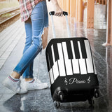 Piano Keys Design #1 (Black) Luggage Cover - FREE SHIPPING