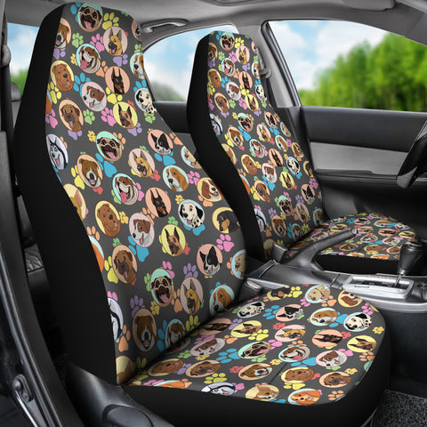 Dogs Galore Car Seat Covers Paw Prints