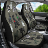 I Love Schnauzers Car Seat Covers (Sharkskin, No Heart)  - FREE SHIPPING