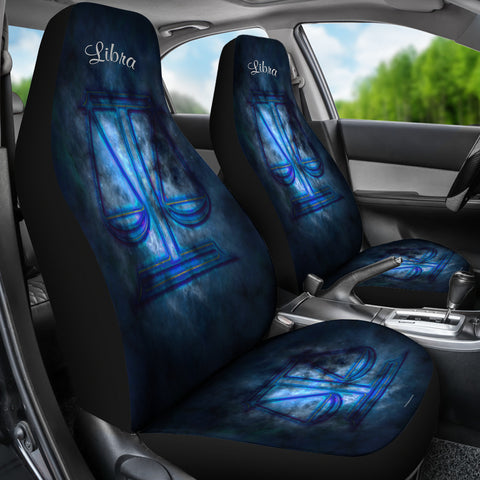 Libra Zodiac Sign Car Seat Covers - FREE SHIPPING
