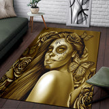Calavera Fresh Look Design #2 Area Rug (Vertical, Hazel Sparkle & Shine Rose) - FREE SHIPPING