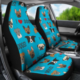 I Love Dogs Car Seat Covers (Richmond SPCA Blue) - FREE SHIPPING