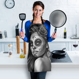 Calavera Fresh Look Design #2 Women's Apron (Vintage Retro) - FREE SHIPPING
