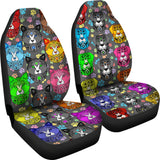 Fancy Pants Cat And Dog Car Seat Covers (Rainbow)  - FREE SHIPPING