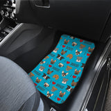 I Love Dogs Car Floor Mats (Richmond SPCA Blue, Front & Back) - FREE SHIPPING