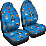 I Love Dogs Car Seat Covers (FPD Blue) - FREE SHIPPING