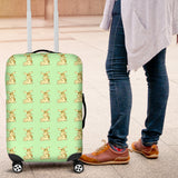 Yellow Rabbits Design #1 (Light Green) Luggage Cover - FREE SHIPPING