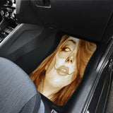 Calavera Fresh Look Design #3 Car Floor Mats (Honey Tiger's Eye, Front & Back) - FREE SHIPPING