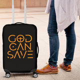God Can Save Luggage Cover (Black) - FREE SHIPPING